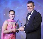 Mrs Lopa Patel receives her Jewel Award from Sean Hinton, MD of Ealing Studios.