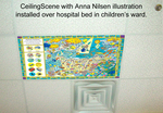Anna Nilsen illustration over hospital bed