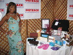 Vivica A. Fox and all of the goodies of the DesignCure 2005 Celebrity Thank You Gift Bag.