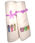 Flip-Flop Beach Sandals Embroidered Beach Towels