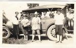 Geraldine Tyler and friends, summer camp, circa 1918