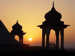 Sunset over the Thar Desert of Rajasthan