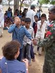 Children recieving treatments at Pediatric camp