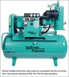 Sullivan-Palatek direct-drive rotary screw air compressors like the one shown here, have become standard at Pick Your Part for daily operations.