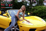 """Co-Host Ania Z. with Ferrari 360 Spider"""