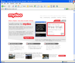 Mydeo Home Page