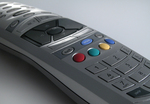 A detailed view of the remote control designed by Product Ventures for Telewest.