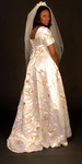 embroidered wedding gown - TK517