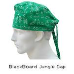 Surgical Scrub Cap BlackBoard Jungle