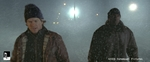 Mark Wahlberg and Tyrese Gibson in Four Brothers (with winter snow and breath effects added by Mr. X effects).
