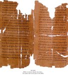 Photo of a Septuagint manuscript from The Schoyen Collection (#2649) containing a portion of Leviticus from the Old Testament. This manuscript from second century Egypt is one of the oldest surviving manuscripts of this part of the Bible