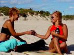 Girls sharing Yerba Mate