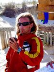 Lifeguard drinking Yerba Mate