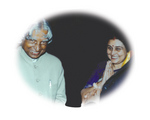 Rajasree Mukherjee with President of India, Dr. A. P. J. Abdul Kalam