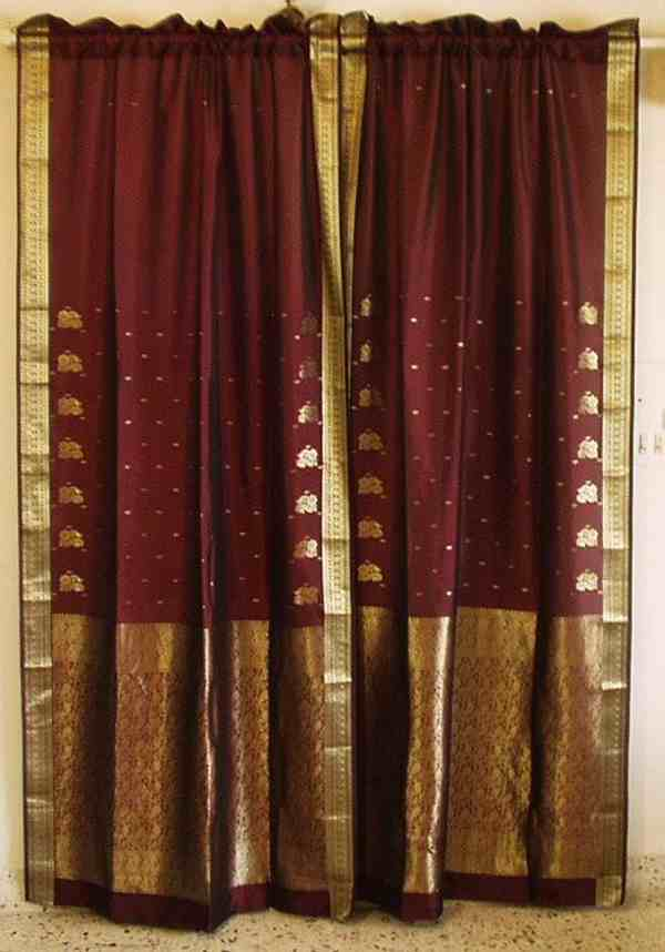 Drape scope opens a new window on the sari for Red and gold drapes