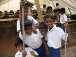 Children attending school