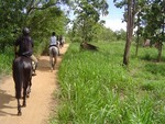 Relief Riders travelling through the lush jungles of Sri Lanka