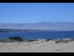 View of the Monterey Bay and Harbor from Monterey Shores.