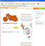 Orange Cupcake - Chocolate Motorcycle baby apparel