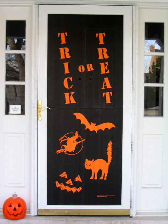 the eerie entrance halloween candy door is the perfect addition to your homes halloween decorating plansshot of eerie entrance in front door