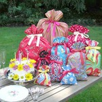 Lucky Crow Fabric Gift Bags