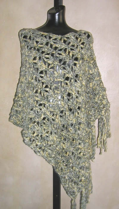 Crocheted Poncho Patterns, Shawl Patterns, and Crocheted Jewelry