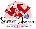 SweaterBabe.com Knitting & Crochet PRINT logo