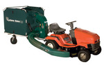 Cyclone Rake PRO lawn and leaf vacuum. Holds 285 gallons of mulched debris. Features 6 HP OHV engine and new Easy-Flow unloading system. Folds up flat for fast, easy storage.