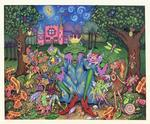 The Frog King entertains his minions in one of Roxanne Bohana's fanciful works at the Studio/Gallery 64 October show.