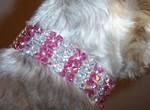 Benny models 'Royalty' collar in Lt Rose