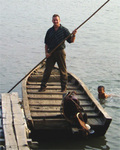 Terry Shepherd at a pearling farm.