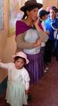 Cholita with daughter in Morado K'asa