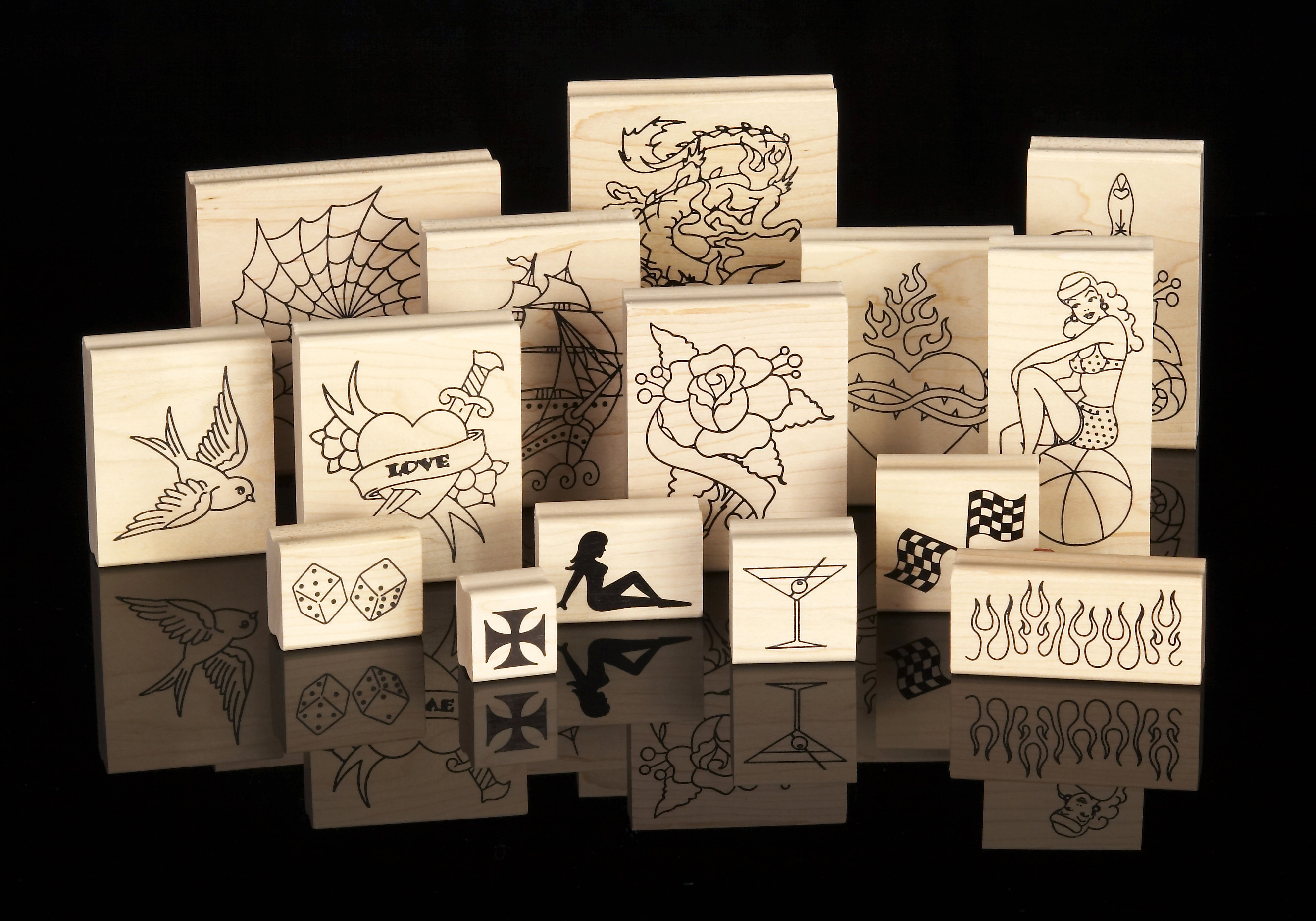 Rubber stamps arts and crafts - Asta Arts Rubber Stampsan Assortment Of Asta Arts Rubber Stamps