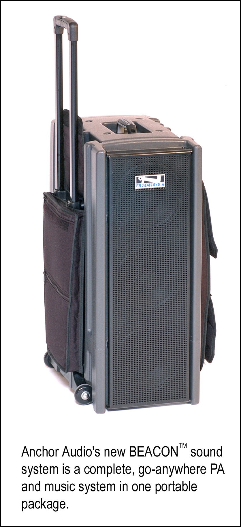 anchor audio 39 s new beacon tm portable pa system a complete public address and music system. Black Bedroom Furniture Sets. Home Design Ideas