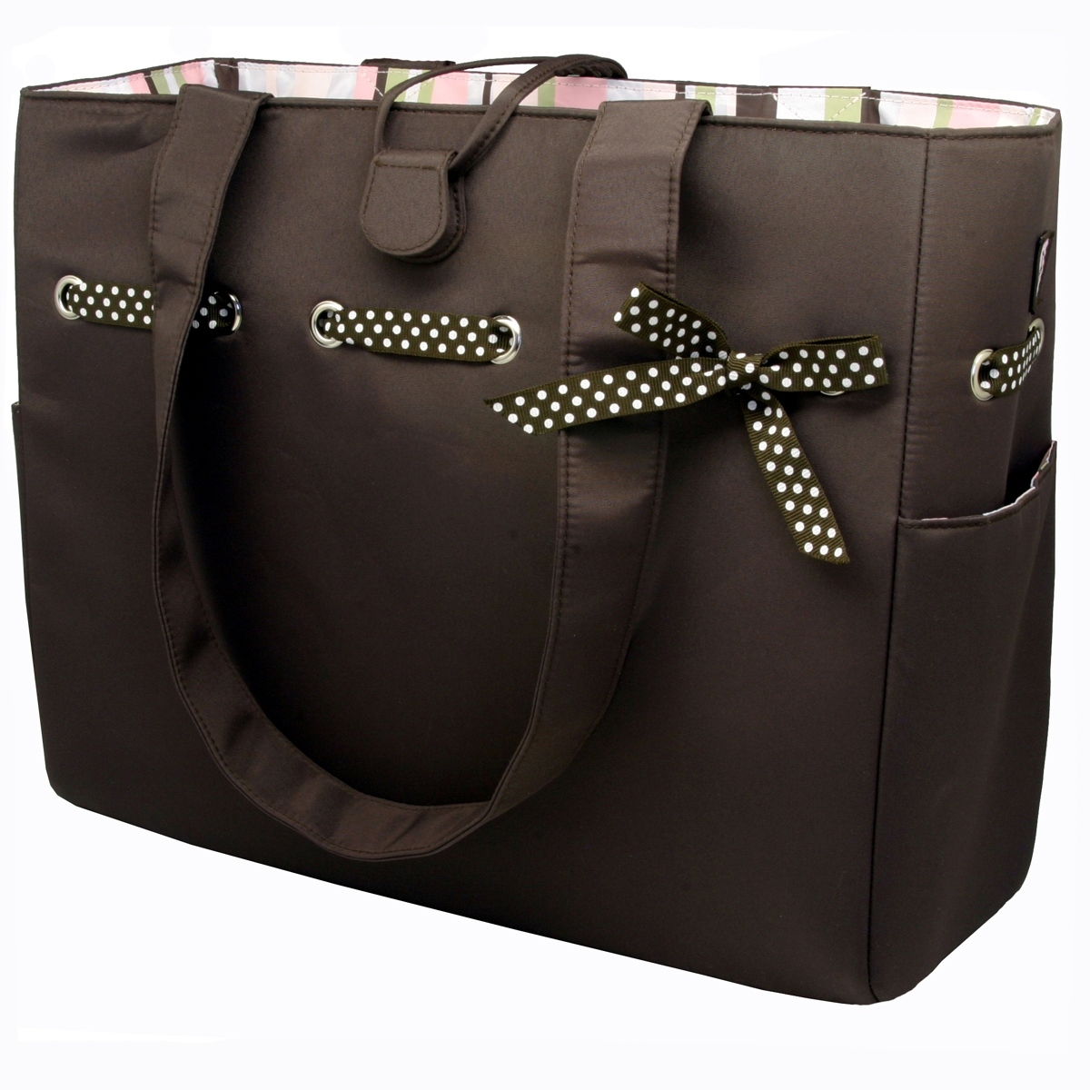 best designer nappy bags vtjz  Mocha Mint Tote from JP LizzyMocha Mint Tote/Diaper Bag by JP Lizzy Comes  with a matching changing pad, coin purse/keychain and makeup bag