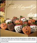 Parents and children alike are finding the Spooky Berries a healthy, welcome treat and party alternative to the mounds of unwholesome candy so prevalent this time of year.