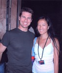 Author/Actress Niki Yan with Tom Cruise on the set of Mission Impossible III, Oct 13, 2005.