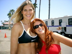 Gabrielle Reece and Angie Everhart star as competitors in 'Cloud 9,' a Graymark presentation of a Ruddy Morgan/Frozen Pictures motion picture, available on DVD January 3, with exclusive bonus features produced by Frozen Pictures.  (Frozen Pictures)