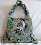 Lara Hobo Bag in Frosty Turquoise Corduroy
