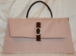 Lydia Clutch in Pink Wool