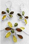 Starry Nights Amber Jewelry Set