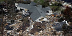 Debris from Gulf Coast homes destroyed by the flooding caused by Hurricane Katrina.