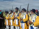 Saint Soldiers protect the Guru Granth Sahib