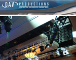 D A V Productions provides all audio visual, lighting and video production equipment for Mandalay Bay event.