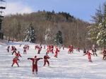 Santas on the Slopes at Sunday River Ski Resort
