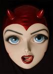 Red Devil Girl Head - Colin Christian