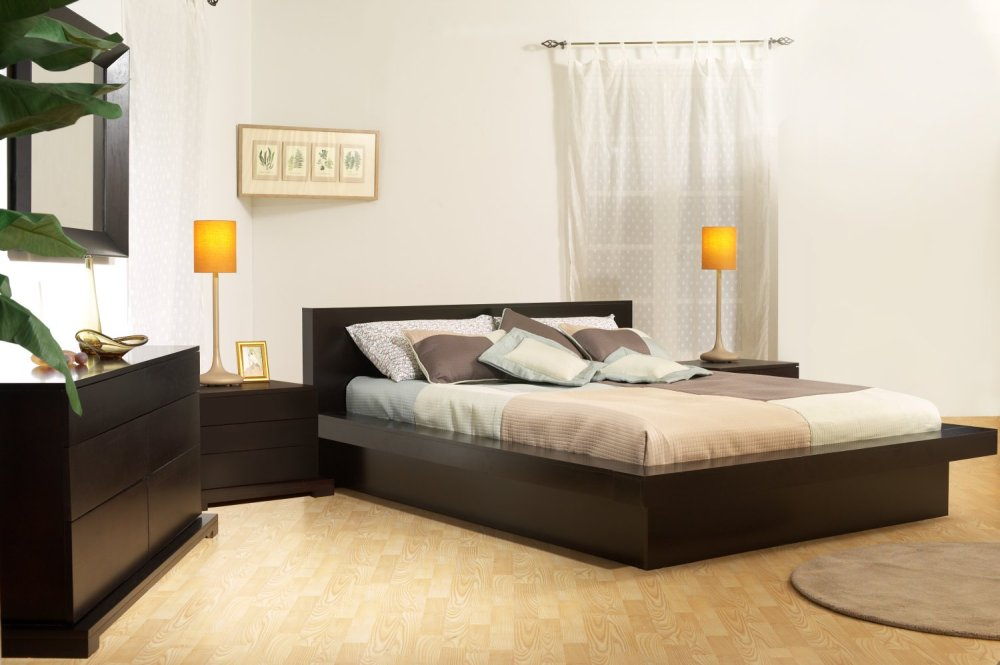 modern platform bedroom furniture set by lifestyle solutions