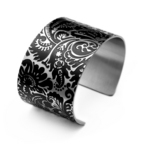 Embellished Collection cuff in flat black
