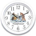 WatchBuddy®  Clock - Dog & Cat - Friend Forever