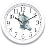 WatchBuddy® Clock - White Mare and Foal